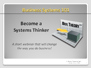 Business Systems 101 Webinar
