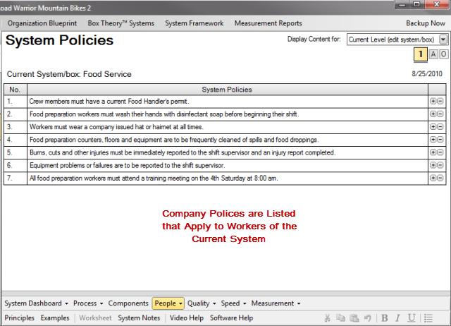 System Policies Creator